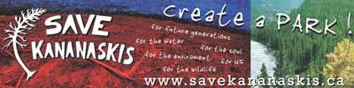 save kananaskis banner